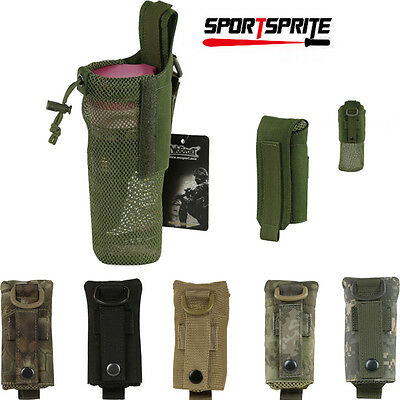 Outdoor Foldable Mesh Water Bottle Carrier Drinking Pouch Bag Holder For Hiking