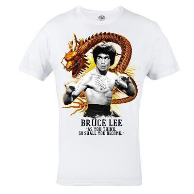 T-Shirt Mma Dragon Bruce Lee Karate Kung Fu Ideal For Training Gym Casual Cotton