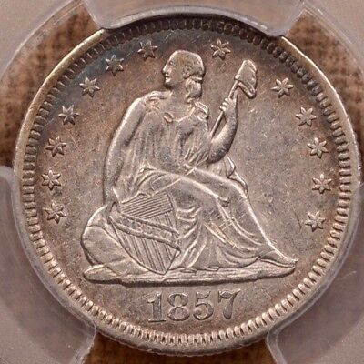 1857-O Liberty Seated quarter, PCGS XF45, pleasing coin    DavidKahnRareCoins