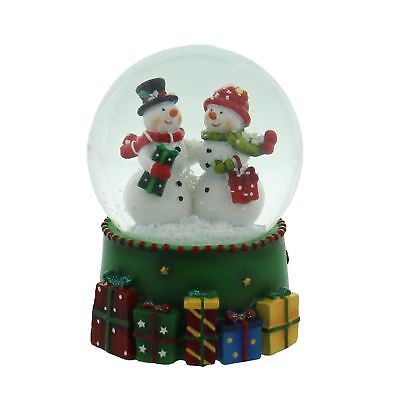 Mr & Mrs Snowman Hand Painted Snow Globe Christmas Decoration