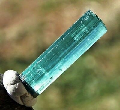 Raw Blue Tourmaline Crystal Untreated Indicolite Mineral Facet Rough Stone 3.5ct