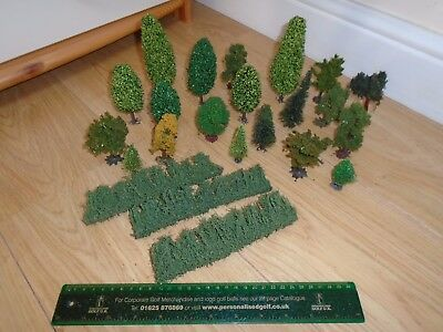 Collection of Trees & Hedging for Hornby OO Gauge Train Sets
