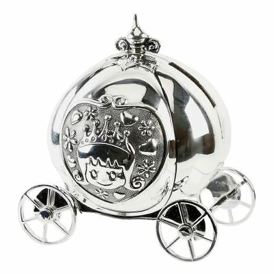 Juliana Baby Collection Silver Plated Cinderella's Pumpkin Coach Money Bank