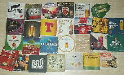 PARTY PACK  Assorted Mix of 25+ Bar Pub Beer Mats Coasters (Actual Qty 27)