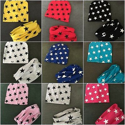 Kids Beanie Hat and Tube Scarf  Set Boys and Girls. Age 1, 2, 3, 4 and 5