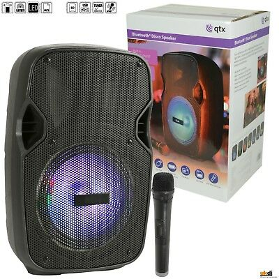 Party Portable PA Battery Powered Sound System 8'' 300w USB Bluetooth FM & Mic