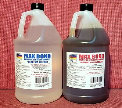 EPOXY MED VISCOSITY INDUSTRIAL GLUE 4 METALS CONCRETE WOOD MARINE GRADE 2gal MV^