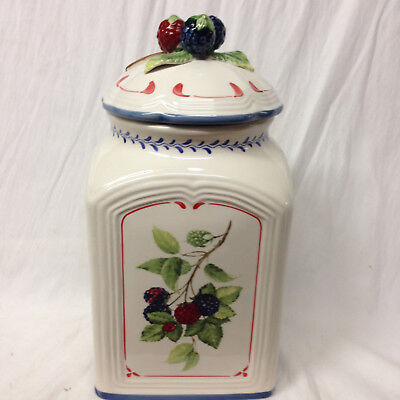 Villeroy & Boch Cottage Large Canister Country Collection Raspberries Fruit