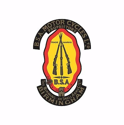 Birmingham Small Arms Company BSA motorcycle motorbike decal sticker