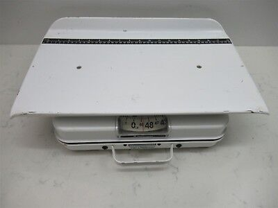 Health O Meter 386S 20kg/44lb Pediatric Baby Scale 18 Inch Ruler Deck White