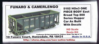 Funaro F&C 5102 HOn3 EAST BROAD TOP Narrow Gauge EBT 800 Series Hopper 1-PIECE