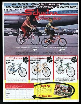 1967 Schwinn StingRay Ram's Horn Fastback Midget Racer bike photo print ad