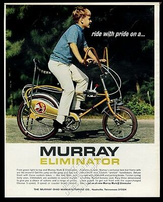 1970 Murray Eliminator Mark II gold bike bicycle color photo vintage print ad