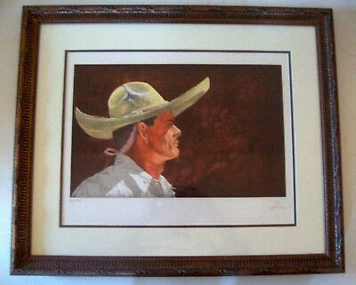 """A Framed S&n Limited Edition Lithograph """"this Is My Land"""" By Artist Vic Herman"""
