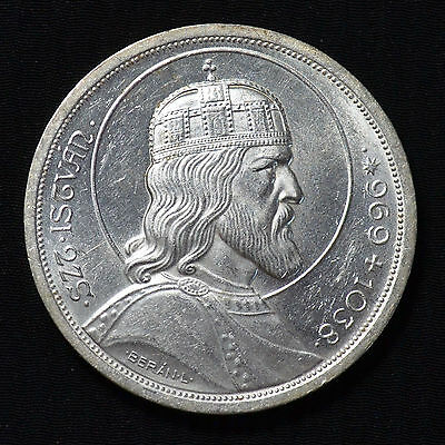 1938 Hungary, 5 Pengo, Death Of St Stephan, Km516, Brilliant Uncirculated