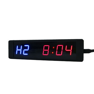 Programmable LED Crossfit Interval Timer Clock Tabata Fitness Training w/Remote