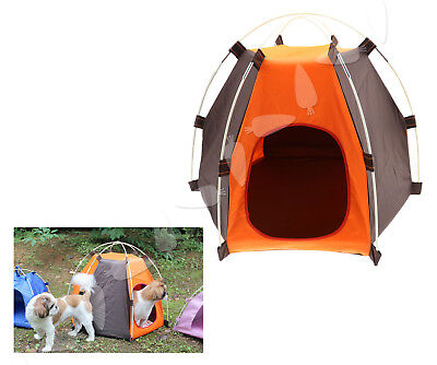 Protable Washable Folding Outdoor Pet House Cat Dog Soft Bed Kennel Camping Tent