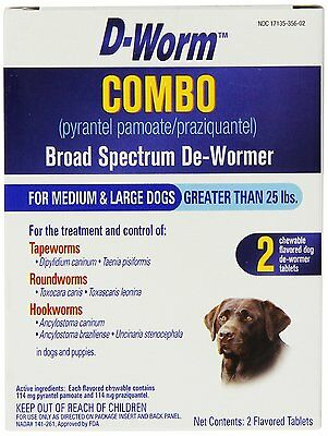 D-Worm Dewormer Large Dog Wormer Broad Spectrum 25 Lbs +. Free Ship In The Usa