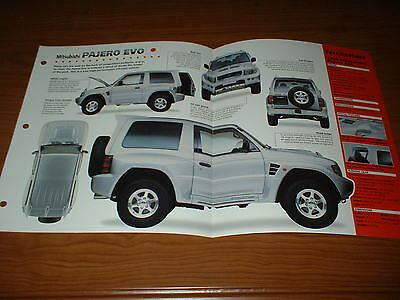 ★★1998 Mitsubishi Pajero Evo Spec Sheet Brochure Poster Print Photo Info 98 97★★