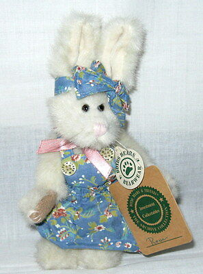 """Boyds Bears The Archive Collection """"rose"""" 8"""" Tall Collectible Plush Bunny Rabbit"""