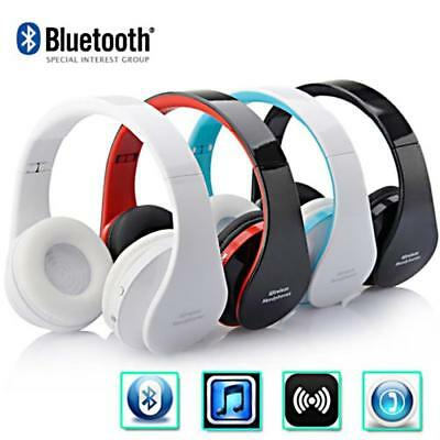 Foldable Wireless Bluetooth Headset Stereo Headphone Earphone With Mic USB Cable