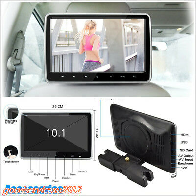 "10.1""HD TFT LCD Big Screen Ultra Thin Car Headrest Multimedia DVD Player Monitor"