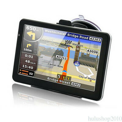 "7"" Automobile Portable GPS Navigator Sat Nav Navigation System for Car Truck"