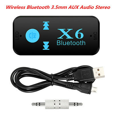 Bluetooth 4.0 Home Car Audio Stereo Receiver 3.5mm AUX Receiver Adapter Mic Kit