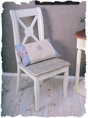 Vintage Dining Room Chair Wooden Chair White Country House Style Cottage