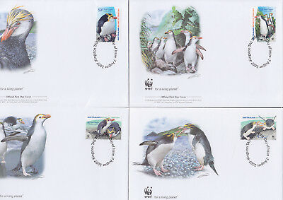 053015 WWF Pinguine Penguins Australian Antarctic FDC First Day Cover ´s
