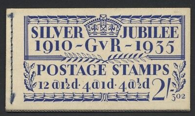 1935 2/- BLUE SILVER JUBILEE BOOKLET EDITION No 302. SG BB16