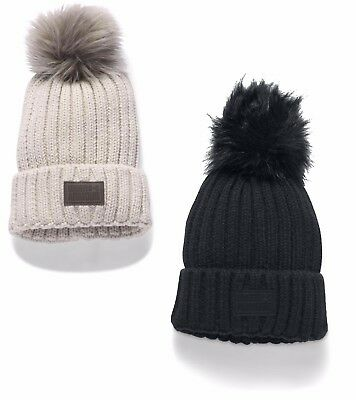 Under Armour 2017 UA Women's Snowcrest Winter Pom Pom Beanie Hat - 1299905