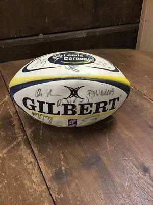 Signed Leeds Carnegie Rugby Ball  #180