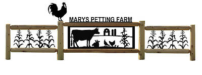 Chickens-Cows-Fence-Farm-Ranch Decor-Country Living-#cow15403-4-Corn-Rooster