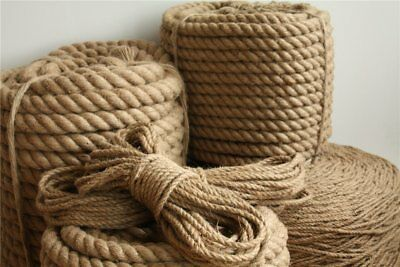 Corde de jute 6mm – 40mm chanvre naturel cordage tordu Rope