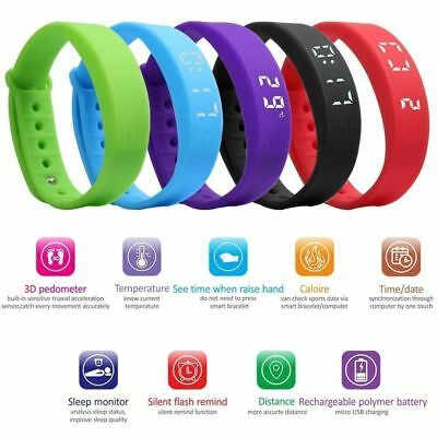 Family Kids Activity Tracker Bracelet Pedometer Fitness Band Fitbit Styled Watch