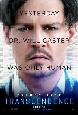 Transcendence - original DS movie poster - 27x40 D/S Johnny Depp FINAL