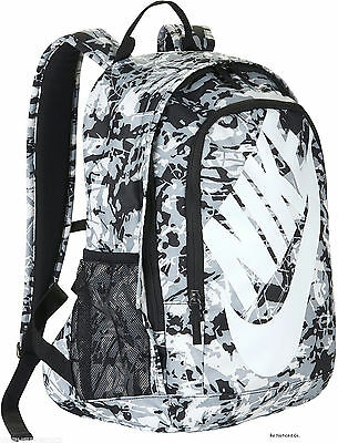 Nike Sportswear Hayward Futura 2.0 Print Backpack White Gray Black School New