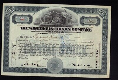 The Wisconsin Edison Company issued to Ferdinand Sherwood