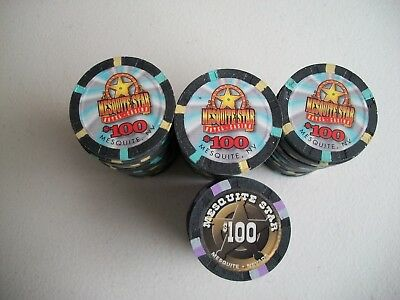 Mesquite Star 73- $100.00 Chips Mesquite Nevada New Mint Condition