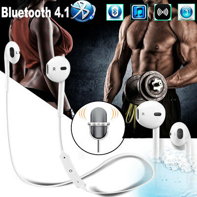 Wireless Bluetooth 4.1 Sports Headset Headphone Earphones Mic For iPhone 7 Plus