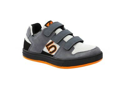 Five Ten Freerider VCS Velcro Kids Shoes Onix Gray Orange US Size 1.0