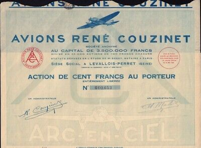 "Avions Rene Couzinet "" Arc en Ciel"" 1931 France - French Aviation Pioneer"
