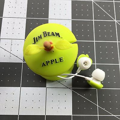 Jim Beam Apple Ear Buds Kentucky Straight Bourbon Whiskey Head Phones Rare