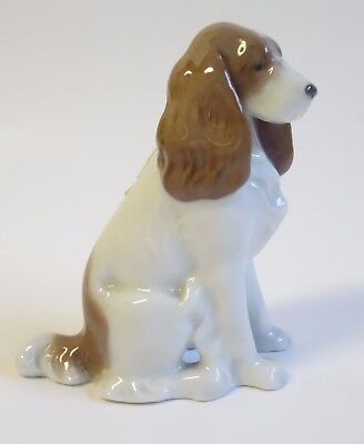Metzler Ortloff Sitting SPRINGER SPANIEL Porcelain Dog Figurine MO Germany