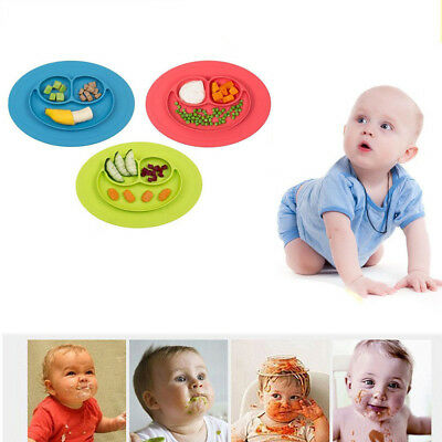 1pcs Smile Silicone Placemat Plate Dish Food Table Baby Mat Bowl Toddler Tool #Z