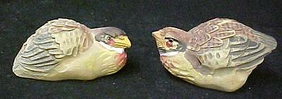 Jungle Bush Quail Pair Hand Carved Art Carving Collectible Nepal Female Male New