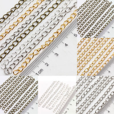 25/100Pcs Gold Silver Plated Link Chain Necklace Metal Jewelry Findings Gift DIY