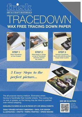 Tracedown - A4 - Pack of 5 Sheets - Choice of 5 Different Colour Packs