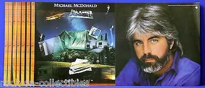 Michael McDonald 1985 No Lookin' Back Lot Of 4 Rare Record Store Promo Flats